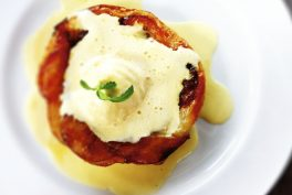 Caramelised onion with Parmigiano Reggiano cheese ice cream